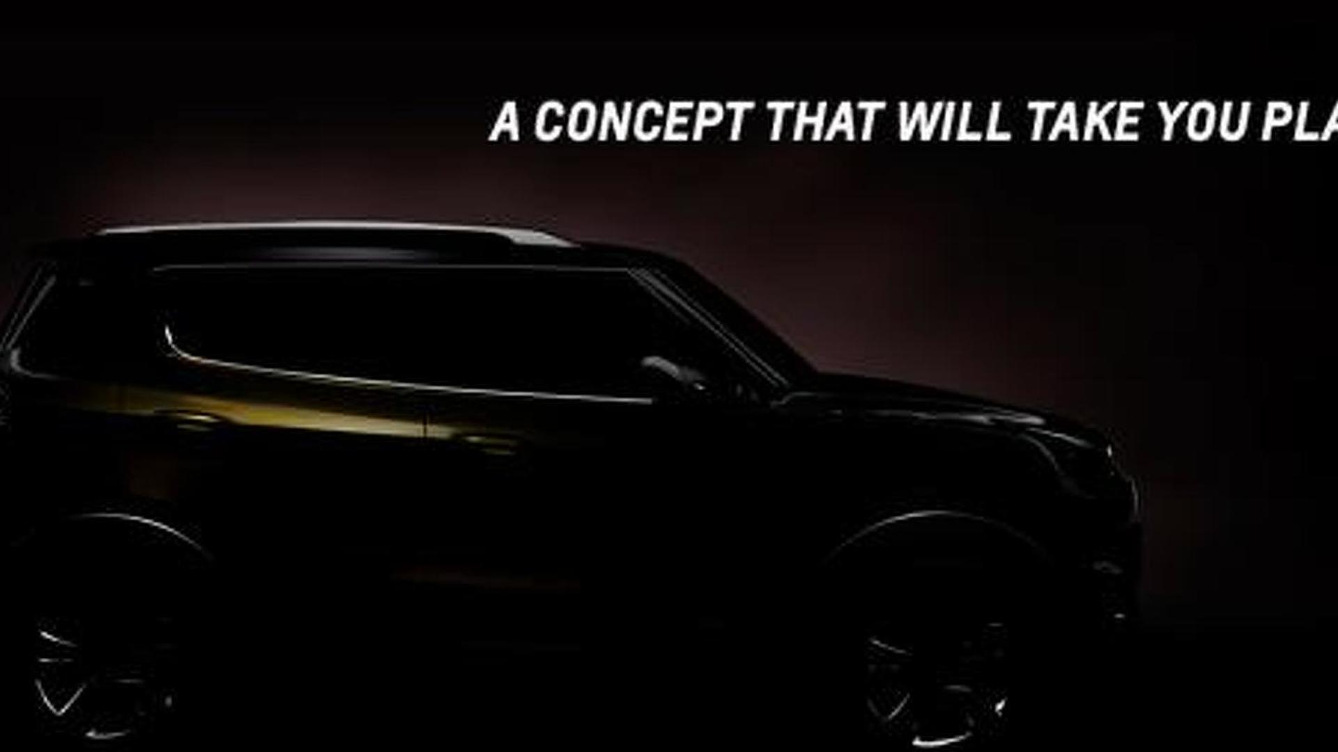 Chevrolet Adra crossover concept teased, will be unveiled tomorrow