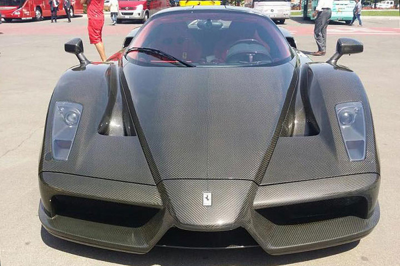 This is the World's Only Bare Carbon Ferrari Enzo