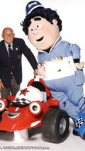 Roary, Big Chris and Sir Stirling Moss