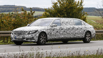 Mercedes S600 Pullman spied undergoing testing in Germany