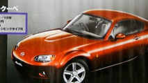 A Mazda MX-5 Coupe?  Let us pray the artist has it right