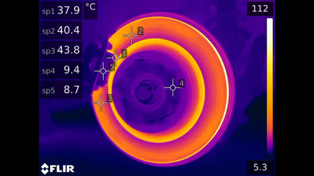 Video Shows A Thermal View Of Hot Brakes In Action