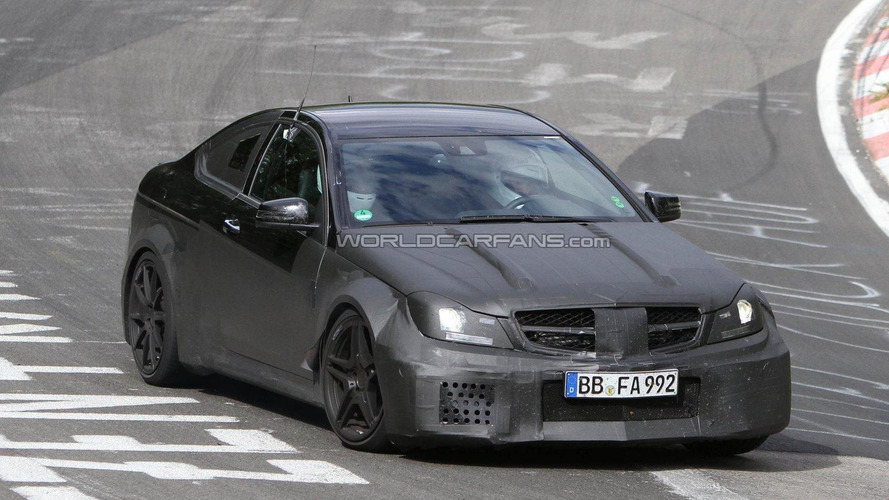 2012 Mercedes Benz C63 AMG Black Series Coupe spied on the ring