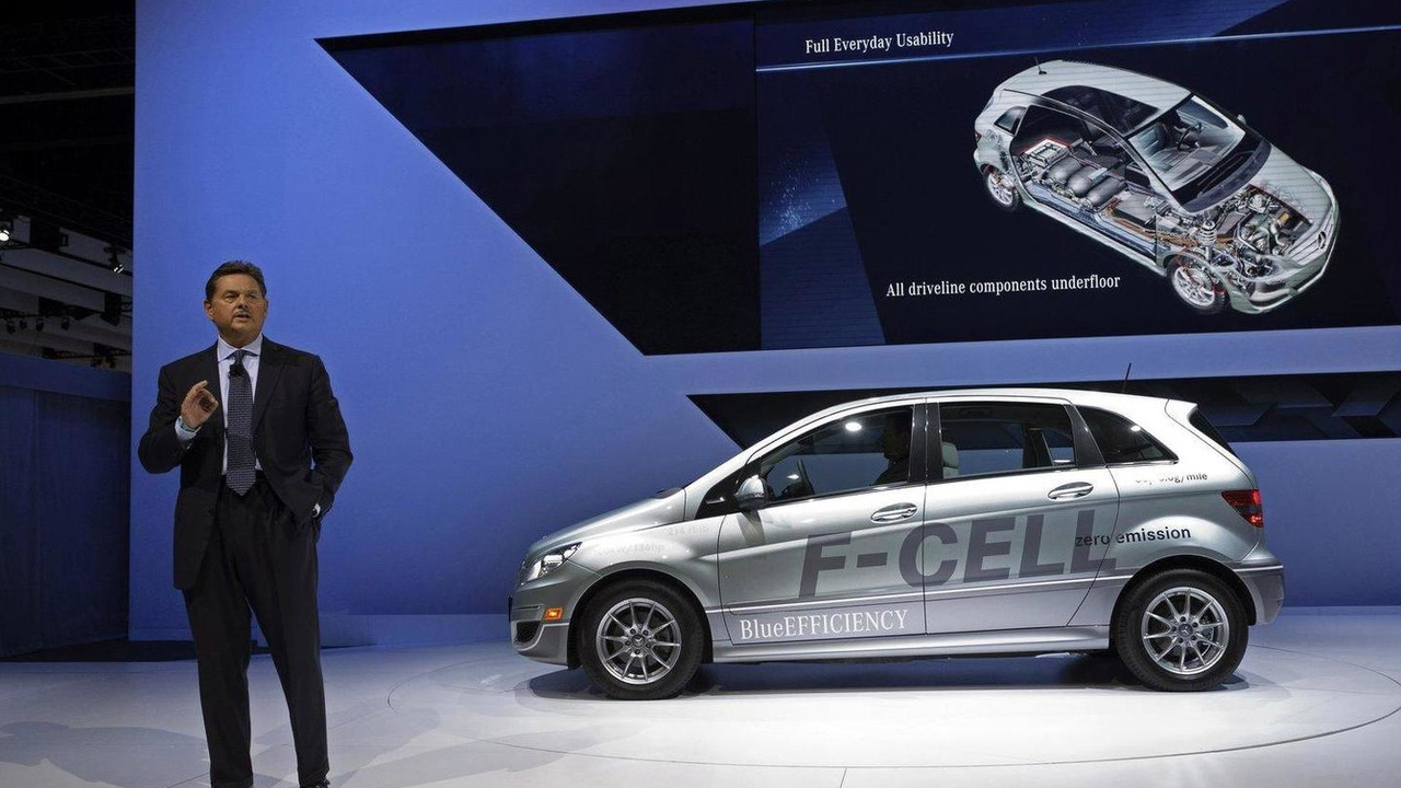 Former Mercedes-Benz USA Chief Ernst Lieb at the L.A. auto show 2010