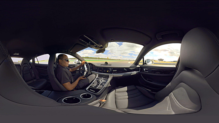 Porsche Panamera 4 E-Hybrid does hot lap in 360-degree clip