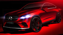 Mercedes GLC Coupe teased once again
