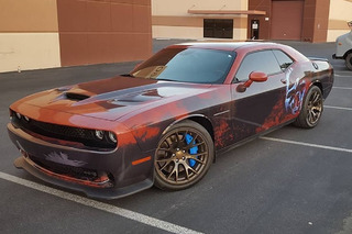 Dodge Challenger Hellcat Gets Dirty With a 'Rustcat' Wrap