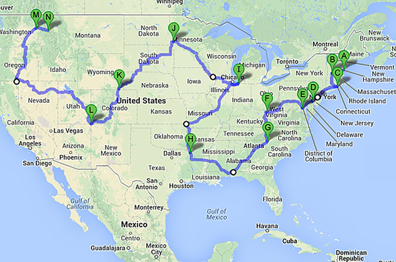 How to Take a 48 State Road Trip in Less than 6 Days