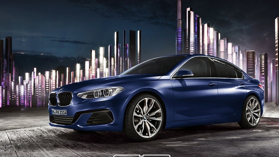 BMW 1-Series Sedan rendered based on Compact Sedan Concept