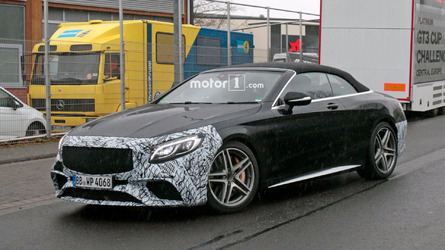 Mercedes-AMG S63 Cabrio Facelift Spied On The Street