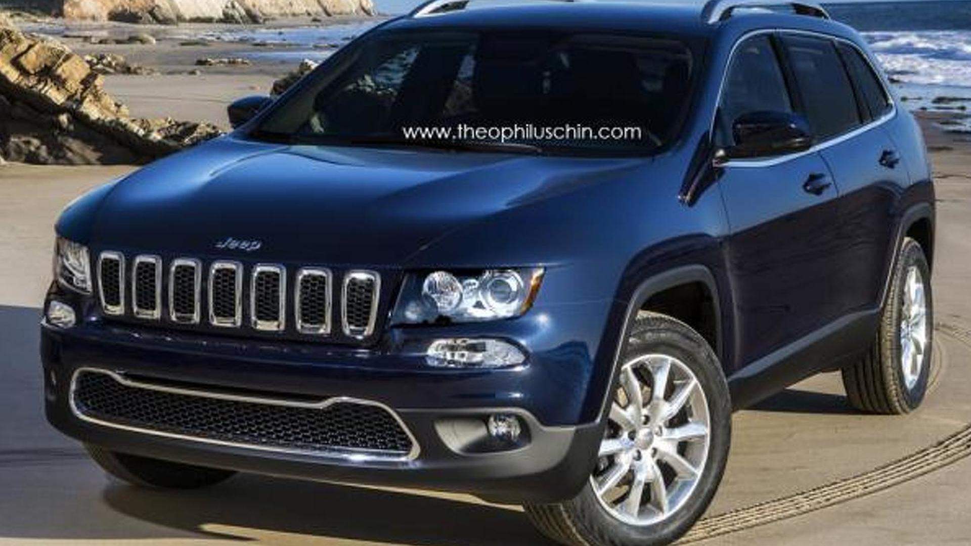 2014 Jeep Cherokee render brings normal front fascia