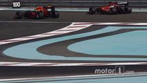 Kimi Raikkonen, Ferrari and Daniel Ricciardo, Red Bull Racing testing the new 2017 Pirelli tires