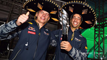 Podium: third place Daniel Ricciardo, Red Bull Racing with Max Verstappen, Red Bull Racing