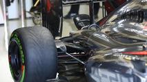 McLaren MP4-29 rear suspension blockers detail 29.01.2014. Formula One Testing Jerez Spain