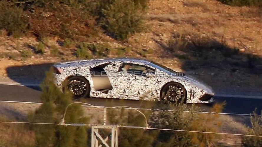 Lamborghini Cabrera drops some of its camo in latest spy shots