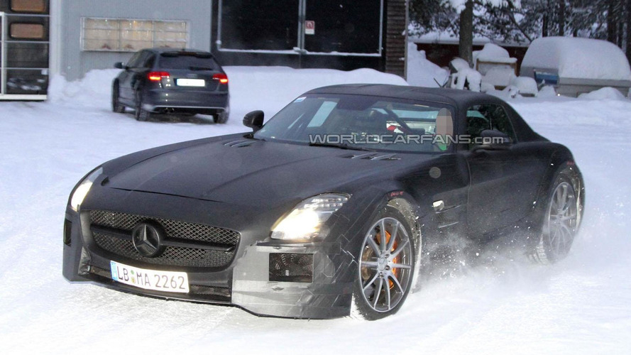 2013 Mercedes SLS AMG Black Series spied near the Arctic Circle