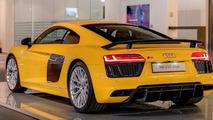 Audi R8 V10 Plus in Vegas Yellow looks sharp