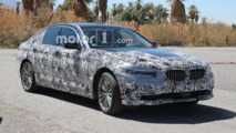 BMW 5 Series PHEV spied basking in the sun
