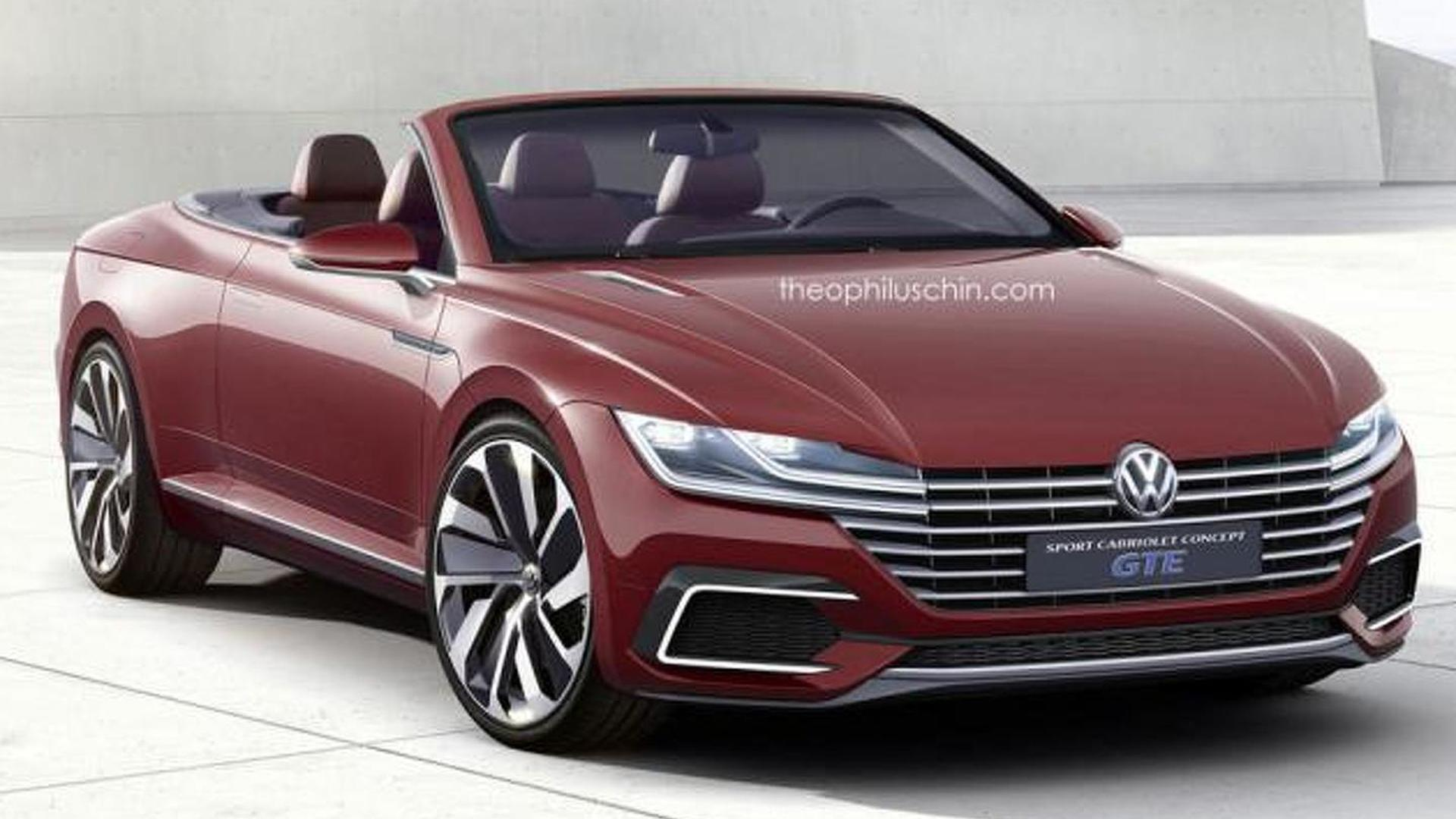 volkswagen eos replacement rendered as the sport cabriolet concept gte. Black Bedroom Furniture Sets. Home Design Ideas