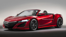 Acura NSX Roadster gets rendered