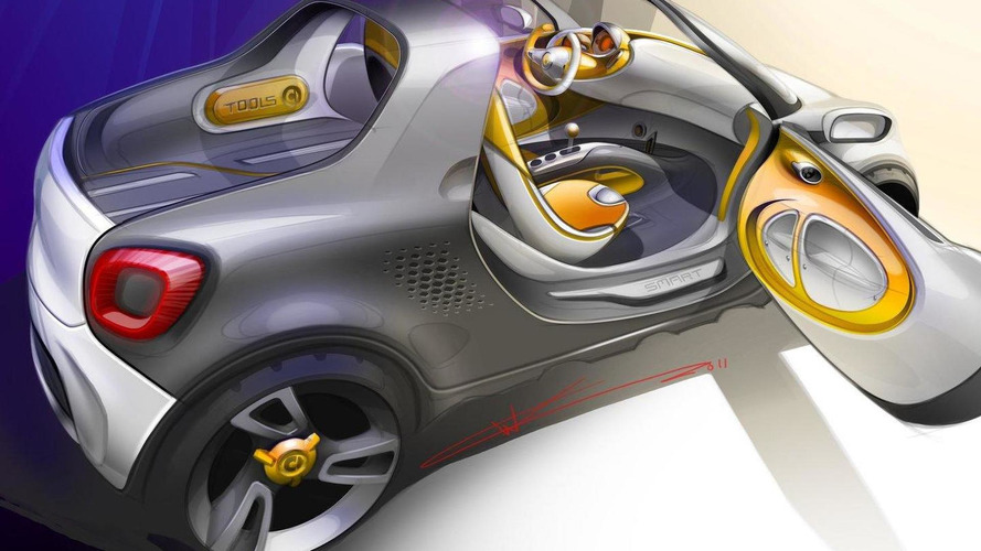 Smart For-Us urban pickup concept previewed ahead of Detroit Auto Show