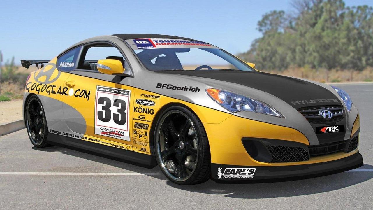 Gogogear Racing Hyundai Genesis Coupe for SEMA preview 20.10.2010