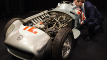 Fangio's iconic Mercedes race car found in warehouse - headed for auction