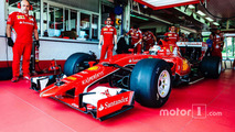 Pirelli reveals images of Ferrari's first wide-tyre test
