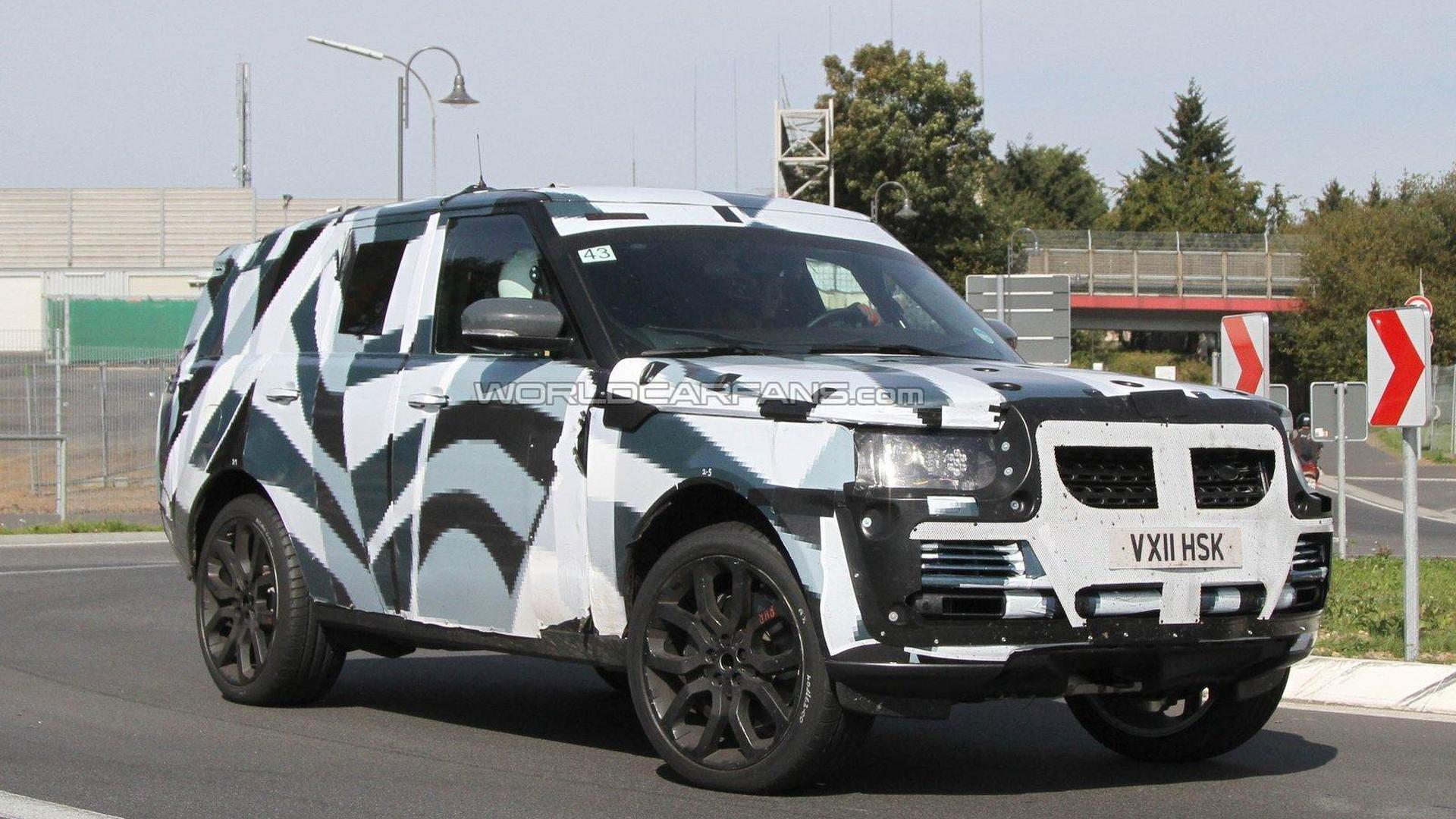 2013 Range Rover spied with less camo