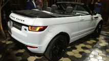 The Range Rover Evoque Convertible looks good in person
