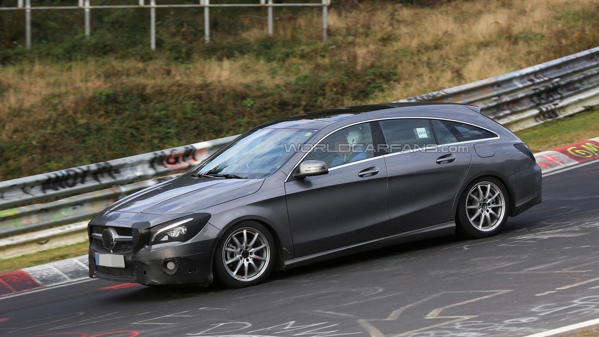 2016 mercedes cla shooting brake facelift spied on the ring. Black Bedroom Furniture Sets. Home Design Ideas