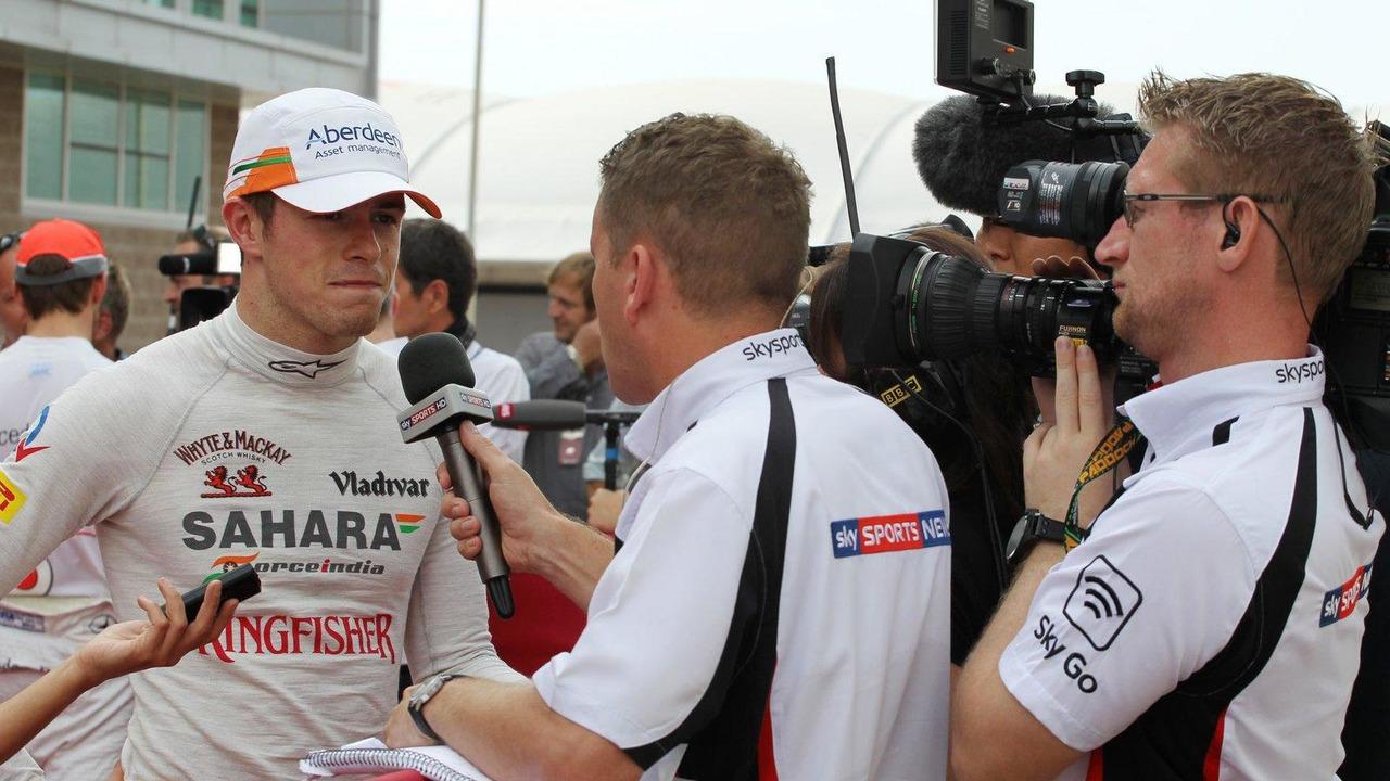 Paul di Resta with Craig Slater Sky F1 Reporter 05.10.2013 Korean Grand Prix