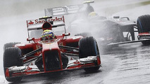 Wet Silverstone tangles Practice 1 for British Grand Prix, track dries for Practice 2 [results]