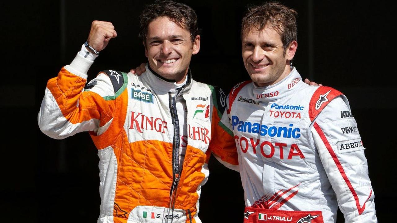 Giancarlo Fisichella, Jarno Trulli, Belgian grand prix, qualifying, Francorchamps, Belgium 29.08.2009