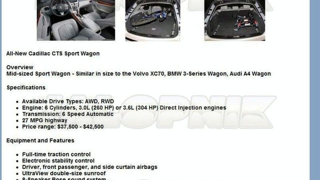 Cadillac CTS Wagon leak
