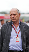 Ron Dennis, McLaren Executive Chairman on the grid