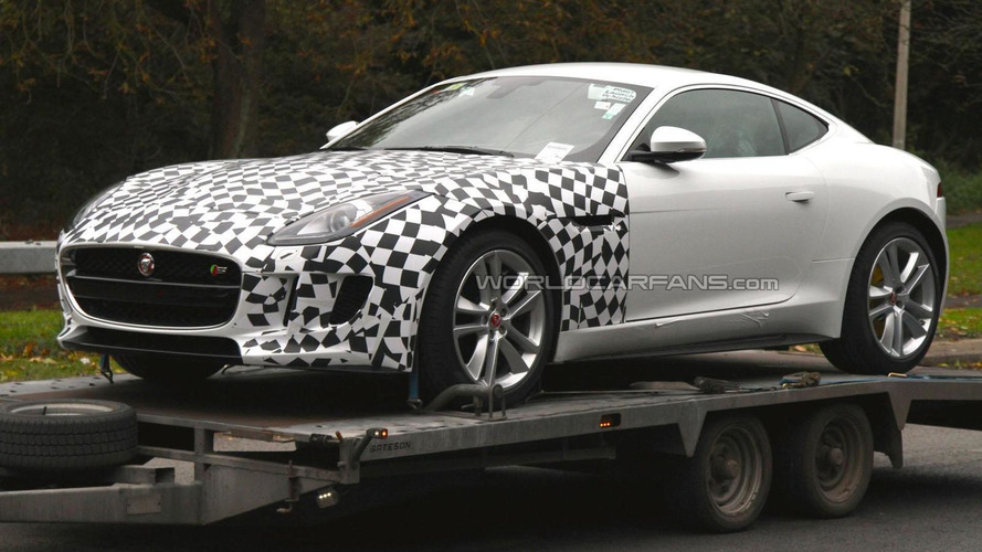 2015 Jaguar F-Type AWD spied on a trailer