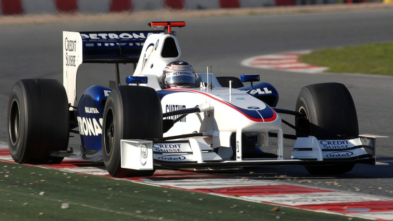 BMW Sauber F1.08B interim car at Circiut de Catalunya Barcelona
