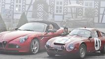 Alfa Romeo 8C Spyder and Giulia Tubolare Zagato 1964, Essen Motor Show 2010, 02.12.2010