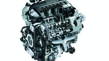 Graphic sectional view of Porsche Panamera Turbo engine
