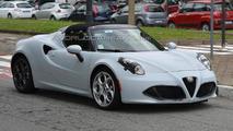 Alfa Romeo 4C Spider spied undergoing testing ahead of 2015 launch