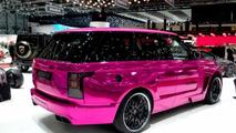 Hamann Mystere based on 2013 Range Rover dresses in pink for Geneva [video]