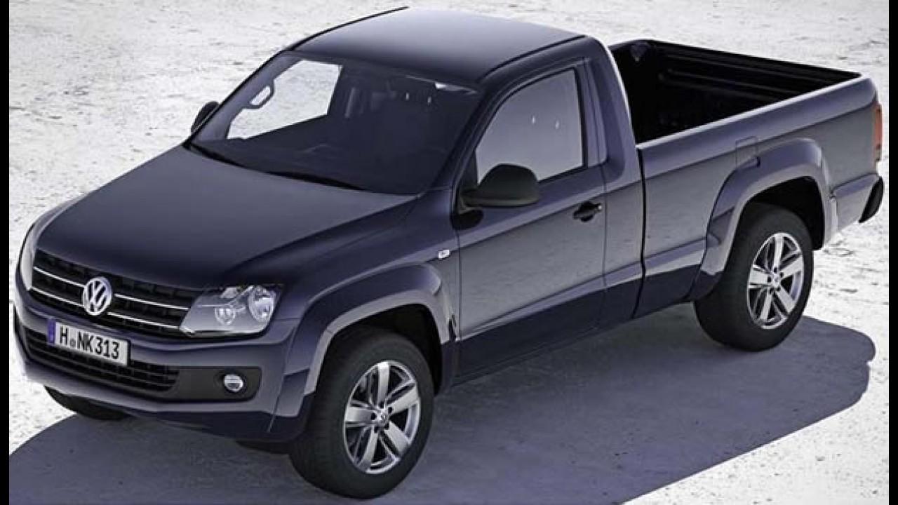 Volkswagen divulga imagens oficiais da Amarok cabine simples