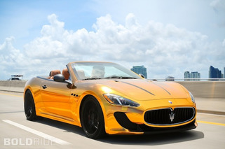 Maserati GranCabrio Gets the Gold Treatment by Velos Designwerks