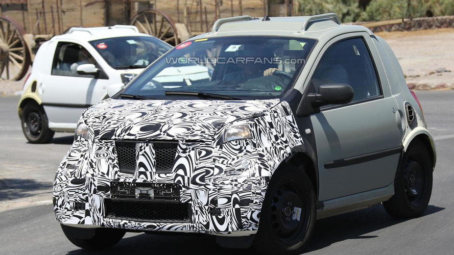 2014 Smart ForTwo mule spied testing in Death Valley