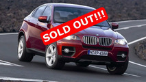BMW X6 sold out