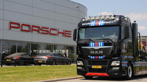 Porsche-Martini themed MAN TGX