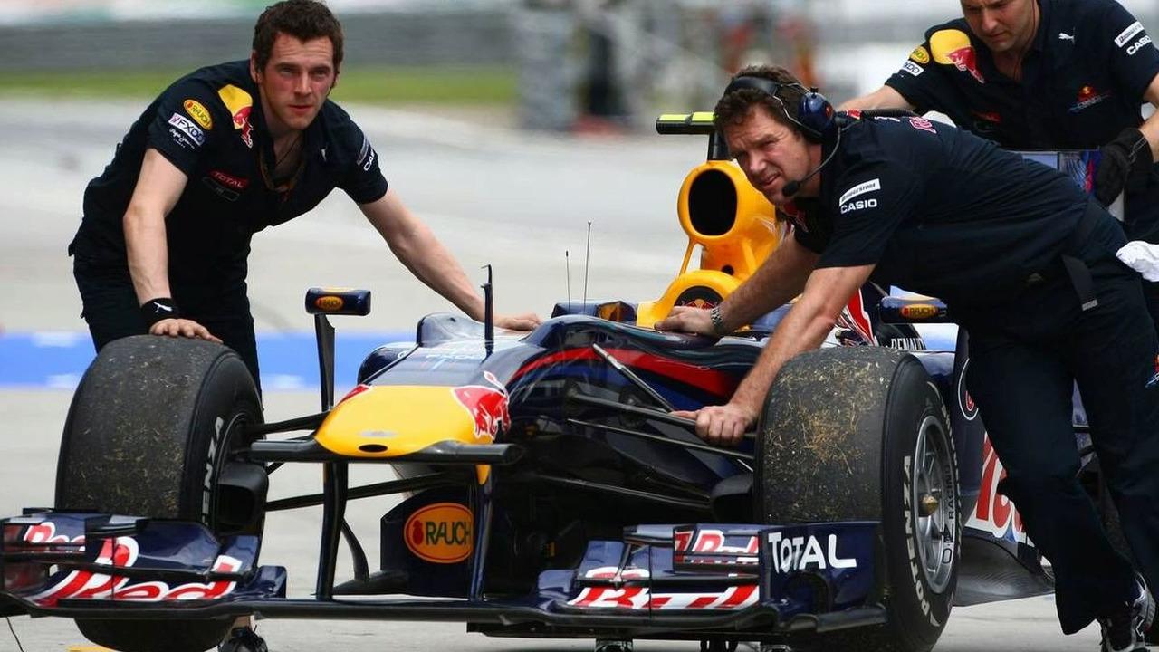 The car of Mark Webber (AUS), Red Bull Racing, Malaysian Grand Prix, 02.04.2010 Kuala Lumpur, Malaysia