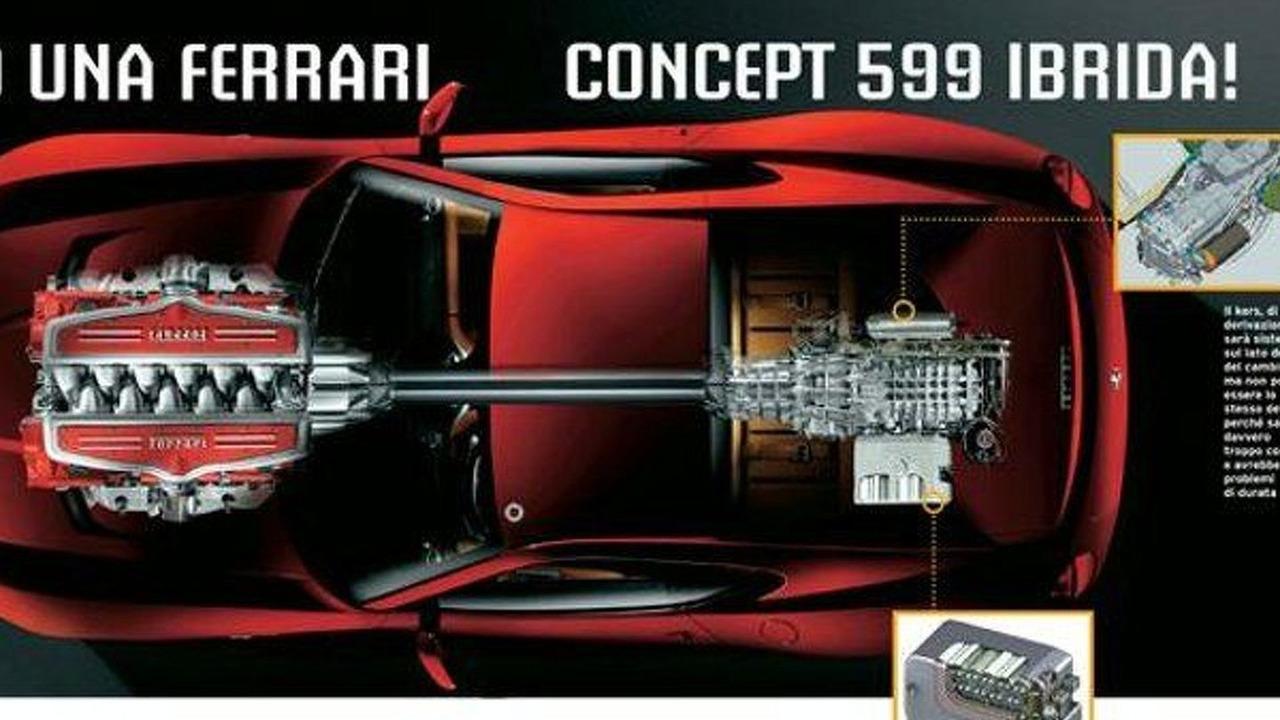Ferrari 599 Hybrid Concept leaked image