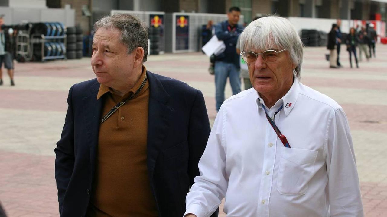 Jean Todt (FRA), FIA president and Bernie Ecclestone (GBR) - Formula 1 World Championship, Rd 17, Korean Grand Prix, Saturday Practice, 23.10.2010 Yeongam, Korea